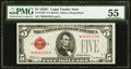 Fr. 1528* $5 1928C Legal Tender Note. PMG About Uncirculated 55