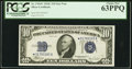 Small Size:Silver Certificates, Fr. 1704* $10 1934C Silver Certificate. PCGS Choice New 63PPQ.. ...