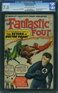 Fantastic Four #10 (Marvel, 1963) CGC VF- 7.5 Cream to off-white pages