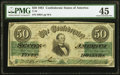 Confederate Notes:1861 Issues, Fully Framed T16 $50 1861 PF-3 Cr. 81 PMG Choice Extremely Fine 45.. ...