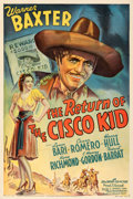 Movie Posters:Western, The Return of the Cisco Kid (20th Century Fox, 1939). Fine...