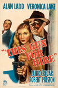 Movie Posters:Film Noir, This Gun for Hire (Paramount, R-1945). Very Fine on Linen....