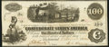 Confederate Notes:1862 Issues, T40 $100 1862 About Uncirculated.. ...