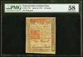 Colonial Notes:Pennsylvania, Jumbo Margins Pennsylvania April 10, 1775 £5 PMG Choice About Unc 58.. ...
