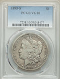 1895-S $1 VG10 PCGS. PCGS Population: (299/4319). NGC Census: (184/2306). CDN: $275 Whsle. Bid for NGC/PCGS VG10. Mintag...