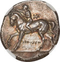 Heritage Select. 101. Ancients. Greek. CALABRIA. Tarentum. Ca. 281-240 BC. AR stater or didrachm (6.55 gm). NGC Choice A...