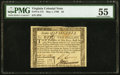 Colonial Notes:Virginia, Virginia May 1, 1780 $2 PMG About Uncirculated 55.. ...