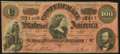 Confederate Notes:1864 Issues, Dark Red with Complete Treasury Stamp T65 $100 1864 Choice About Uncirculated.. ...