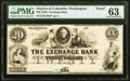 Obsoletes By State:District of Columbia, Washington City, DC- Exchange Bank $20 18__ Proof G20a PMG Choice Uncirculated 63.. ...
