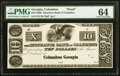 Obsoletes By State:Georgia, Columbus, GA- Insurance Bank of Columbus $10 18__ Proof G10a PMG Choice Uncirculated 64.. ...