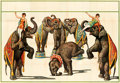 """Movie Posters:Miscellaneous, Stock Circus Poster (Erie Litho, 1920s). Folded, Fine/Very Fine. Performing Elephants Stock 12 Sheet Circus Poster (155"""" X 1..."""