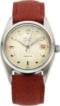 Timepieces:Wristwatch, Rolex, Red Date Oysterdate Precision, 50m = 165 ft Marked Dial, Ref. 6494, Circa 1954. ...