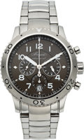 Timepieces:Wristwatch, Breguet, Type XXI Flyback Chronograph, Stainless Steel, Ref. 3810ST, Circa 2010. ...