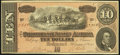 Confederate Notes:1864 Issues, T68 $10 1864 Choice Crisp Uncirculated.. ...