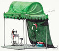 Animation Art:Concept Art, Tim Burton's The Nightmare Before Christmas Sally's Sewing Tent Concept Art (Touchstone/Disney, 1993)....