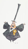 Animation Art:Concept Art, Tim Burton's The Nightmare Before Christmas Mayor Concept Drawing (Touchstone/Disney, 1993)....