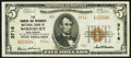 National Bank Notes:New Jersey, Woodbury, NJ - $5 1929 Ty. 2 The Farmers & Mechanics National Bank Ch. # 3716 Very Fine.. ...
