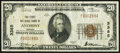 National Bank Notes:Kansas, Anthony, KS - $20 1929 Ty. 1 The First National Bank Ch. # 3385 Very Fine.. ...