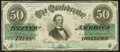 Confederate Notes:1862 Issues, T50 $50 1862 Choice About Uncirculated.. ...