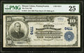National Bank Notes:Pennsylvania, Mount Union, PA - $10 1902 Plain Back Fr. 624 The First National Bank Ch. # 6411 PMG Very Fine 25.. ...