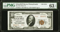 National Bank Notes:Pennsylvania, Schuylkill Haven, PA - $10 1929 Ty. 2 The First National Bank & Trust Company Ch. # 5216 PMG Choice Uncirculated 63 EP...