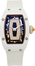 Timepieces:Wristwatch, Richard Mille, RM 07-01, Ladies Self-Winding, White Ceramic and 18k Rose Gold, Circa 2017. ...
