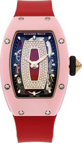 Timepieces:Wristwatch, Richard Mille, RM 07-01, Ladies Self-Winding, Pink Ceramic and 18k Rose Gold, Circa 2018. ...