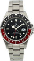 "Timepieces:Wristwatch, Rolex, Very Well Preserved Ref. 16710 GMT-Master II, ""Fat Lady"", Stainless Steel, Circa 1989. ..."