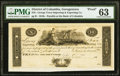 Obsoletes By State:District of Columbia, Georgetown, DC- George Town Importing & Exporting Co. at Bank of Columbia $10 181_ Proof PMG Choice Uncirculated 63.. ...