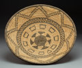 American Indian Art:Baskets, A Western Apache Coiled Tray...
