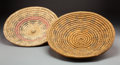 American Indian Art:Baskets, Two Navajo Coiled Wedding Trays... (Total: 2 )