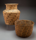 American Indian Art:Baskets, Two Pima Coiled Basketry Items ... (Total: 2 )