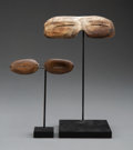 American Indian Art:Wood Sculpture, Two Pairs of Eskimo Snow Goggles... (Total: 2 )