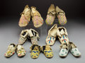 American Indian Art:Beadwork and Quillwork, Seven Pairs of Plains Child's Beaded Hide Moccasins... (Total: 7 )