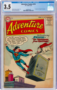 Adventure Comics #210 (DC, 1955) CGC VG- 3.5 Cream to off-white pages