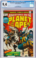 Bronze Age (1970-1979):Miscellaneous, Adventures on the Planet of the Apes #1 (Marvel, 1975) CGC NM 9.4 White pages....