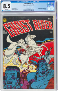 Ghost Rider #1 (Magazine Enterprises, 1950) CGC VF+ 8.5 White pages