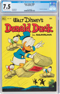 Golden Age (1938-1955):Humor, Four Color #394 Donald Duck (Dell, 1952) CGC VF- 7.5 Off-white to white pages....