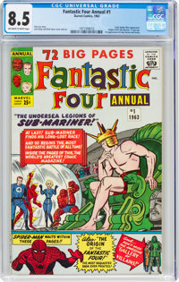 Fantastic Four Annual #1 (Marvel, 1963) CGC VF+ 8.5 Off-white to white pages