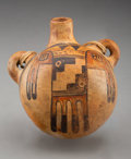 American Indian Art:Pottery, A Hopi Polychrome Canteen...