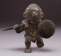 Pre-Columbian:Metal/Gold, A Moche Copper and Silver Alloy Kneeling Warrior...