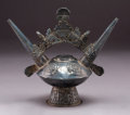 Pre-Columbian:Metal/Gold, A Lambayeque Silver Alloy Vessel...