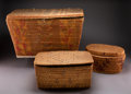 American Indian Art:Baskets, Three Northwest Coast Imbricated Storage Baskets... (Total: 3 )
