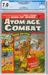 Atom-Age Combat #3 (St. John, 1952) CGC FN/VF 7.0 Off-white to white pages