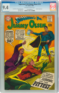 Superman's Pal Jimmy Olsen #115 (DC, 1968) CGC NM 9.4 Off-white to white pages