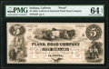 Obsoletes By State:Indiana, La Porte, IN- La Porte & Plymouth Plank Road Company $5 18__ UNL as Wolka 386-5 (1978) Proof PMG Choice Uncirculated 64 EP...