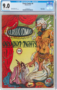 Classic Comics #8 Arabian Nights (Gilberton, 1943) CGC VF/NM 9.0 Off-white to white pages