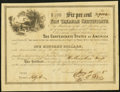 Confederate Notes:Group Lots, Ball 362 Cr. 152 $100 Confederate Non Taxable Certificate Remainder About Uncirculated.. ...