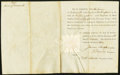 Obsoletes By State:New Hampshire, Portsmouth, NH- Piscataqua Bridge Share Certificate No. 258 Dec. 7, 1793 Extremely Fine.. ...