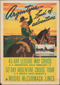 """Movie Posters:Miscellaneous, American Republics Line South American Cruises (Moore-McCormack Lines, 1941). Rolled, Fine+. Travel Poster (18"""" X 25.5""""). Mi..."""